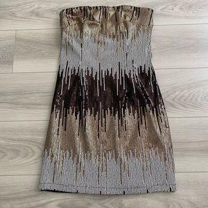 Sequin Strapless Mini Dress